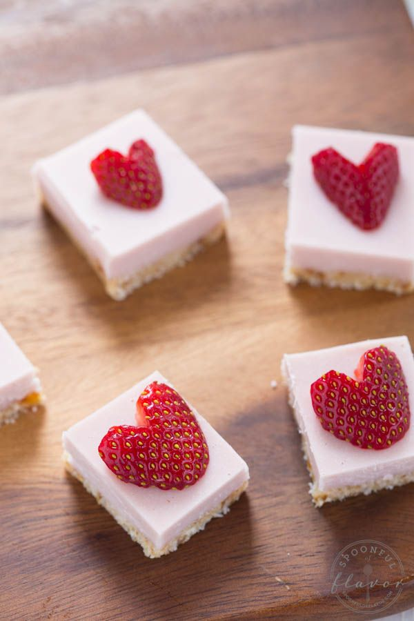 No Bake Strawberry Coconut Cream Bites