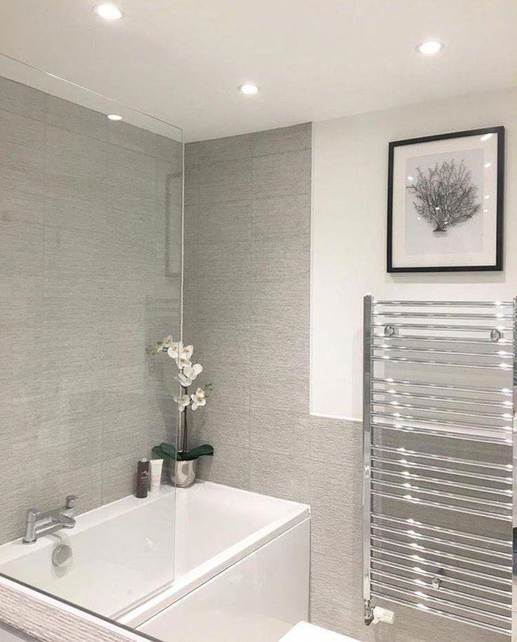 Grey bathroom - small bathroom ideas #smallbathroomideas # ...