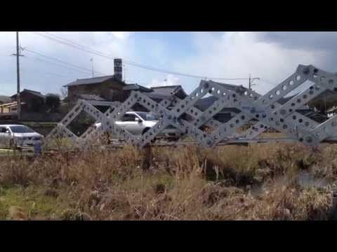 Японцы разработали раскладной ножничный мост — Популярная механика