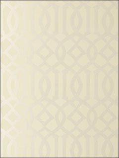 Imperial Trellis Alabaster Wallpaper -Schumacher Wallpaper