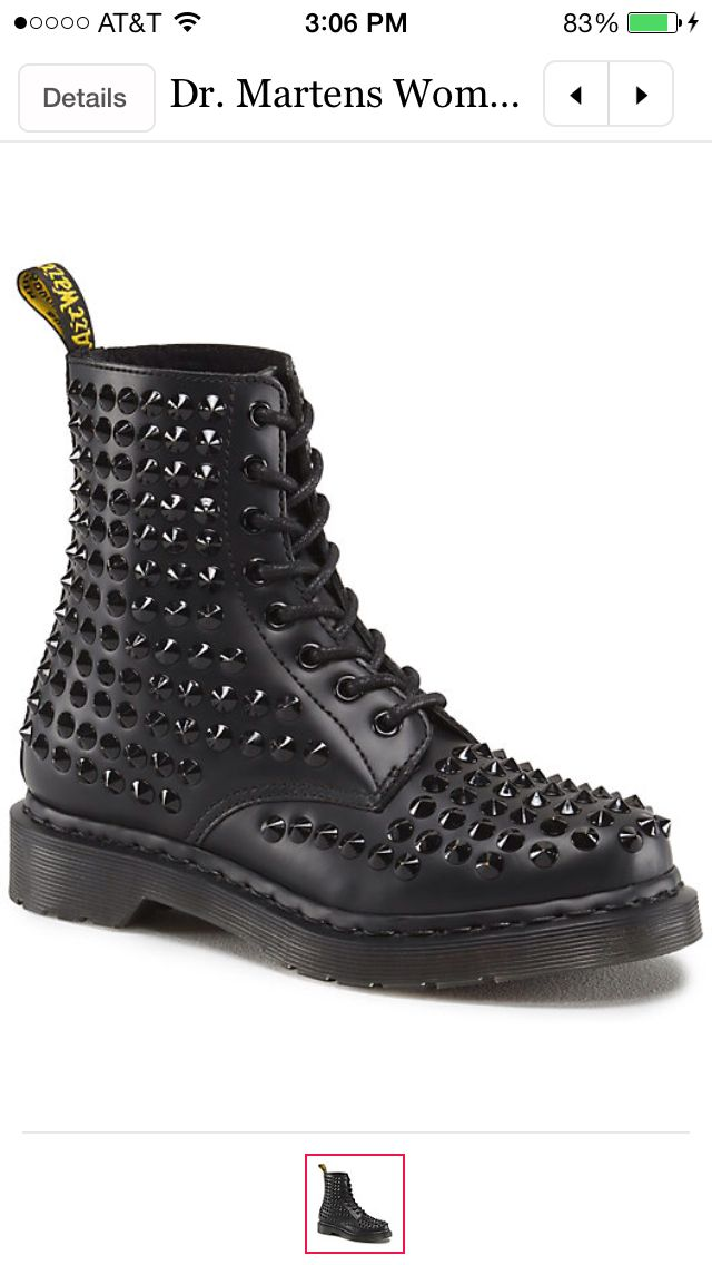 Spiked doc martins