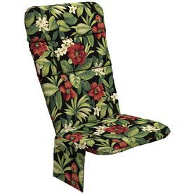 Garden Treasures Sanibel Black Tropical Cushion For Adirondack Chair A