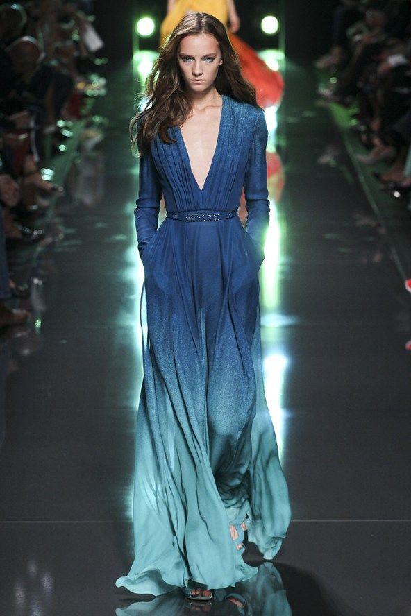 Beautiful colour. Gorgeous fabric! Elie Saab Spring Summer 2015