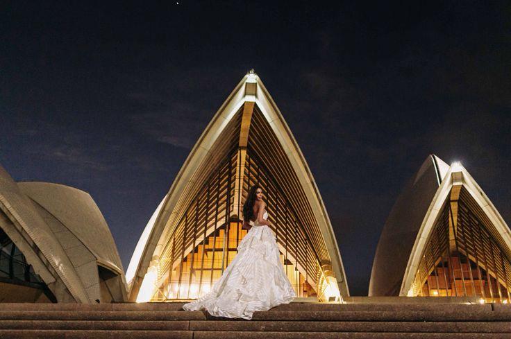 Sydney Opera House steps. #sydneywedding #hayleypaige #guindongown #sheglowsHP #sydneyoperahouse #operapointmarqueeweddings