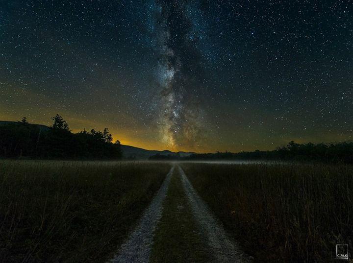 I wanna drive on thiis road milky way pinterest - Space wallpaper road ...