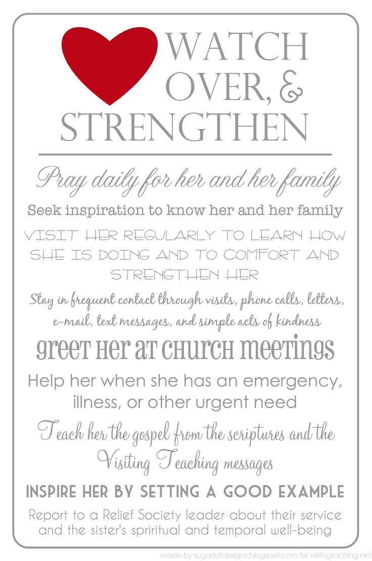 Women of Faith, Virtue, Vision, & Charity: Visiting Teaching Lesson
