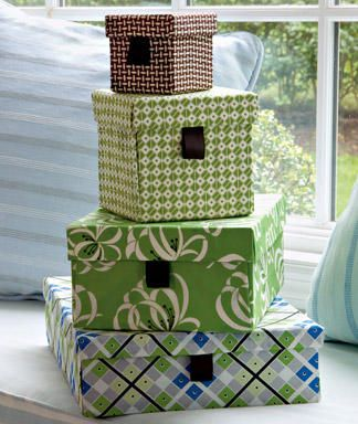 DIY: Cover boxes with your own fabric