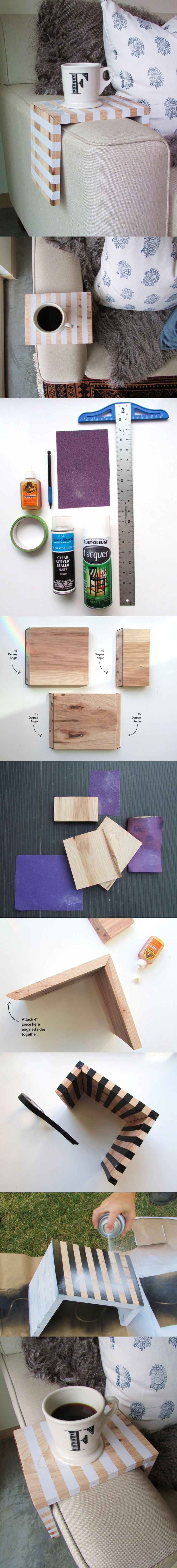 Mesita de madera para sofá - Muy Ingenioso