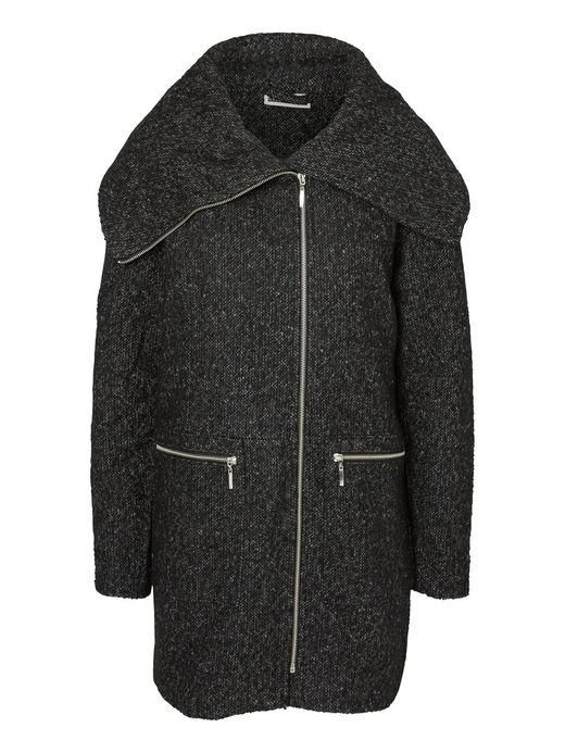 Wool coat with large collar from Noisy may