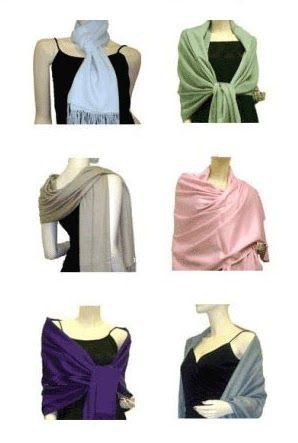 www.privateislandparty.com How to wear Pashmina Shawl