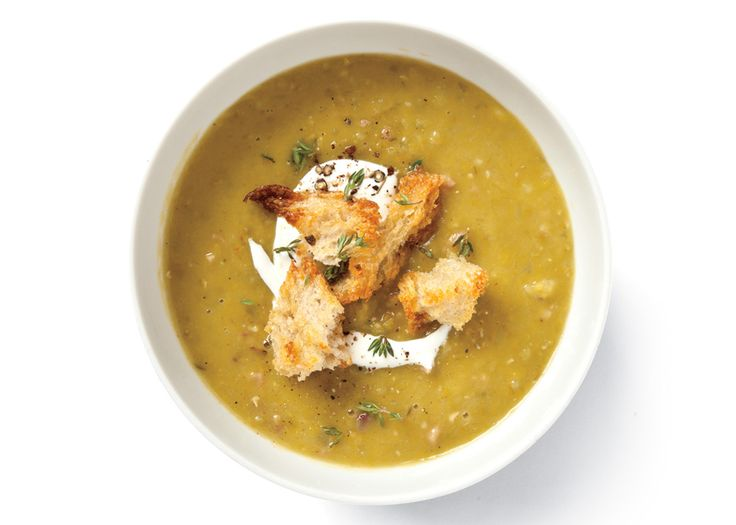 If you want to make this soup but you don't have a ham bone, use two ham hocks instead.