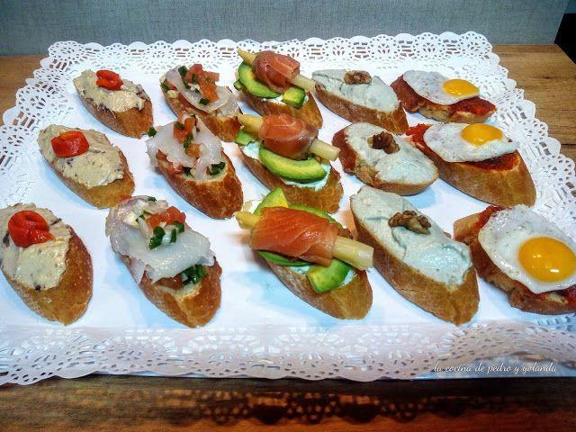 Bandeja de montaditos fríos - COCINA FÁCIL - La cocina de Pedro y Yolanda