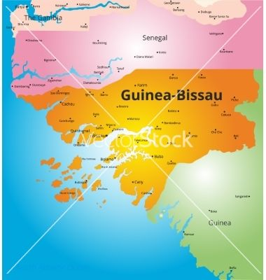 Color map of guineabissau vector