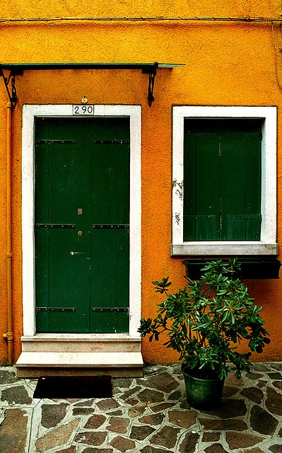 YESS!! Took the same picture of this house in Burano, Italy! Packer fans everywhere.