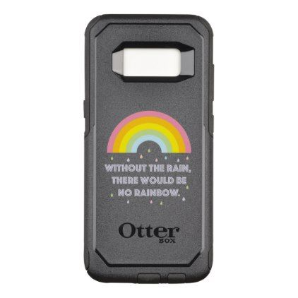Rainbow Inspirational and Motivational Quote OtterBox Commuter Samsung Galaxy S8 Case - quote pun meme quotes diy custom