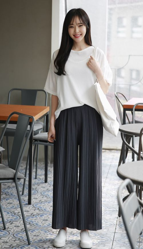 [ENVYLOOK] WIDE PLEATED PANTS