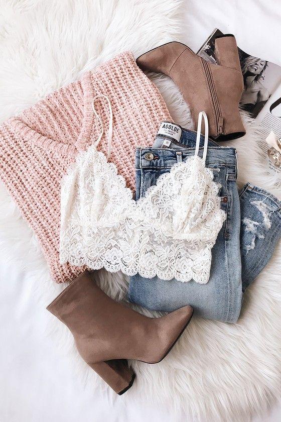 V Cute Blush Pink Chenille Knit Sweater – #Blush #Chenille #clothes #Cute #Knit #Pink #Sweater