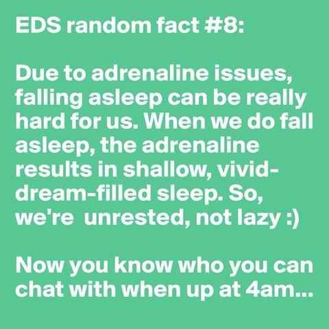 EDS and Insomnia | 31 Random Facts About Ehlers-Danlos Syndrome