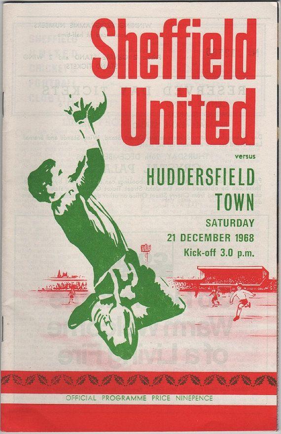 Vintage Football (soccer) Programme - Sheffield United v Huddersfield Town 1968/69 season, by DakotabooVintage