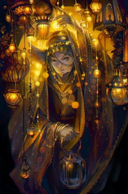 As ilustrações de fantasia sombria de Lena Richards