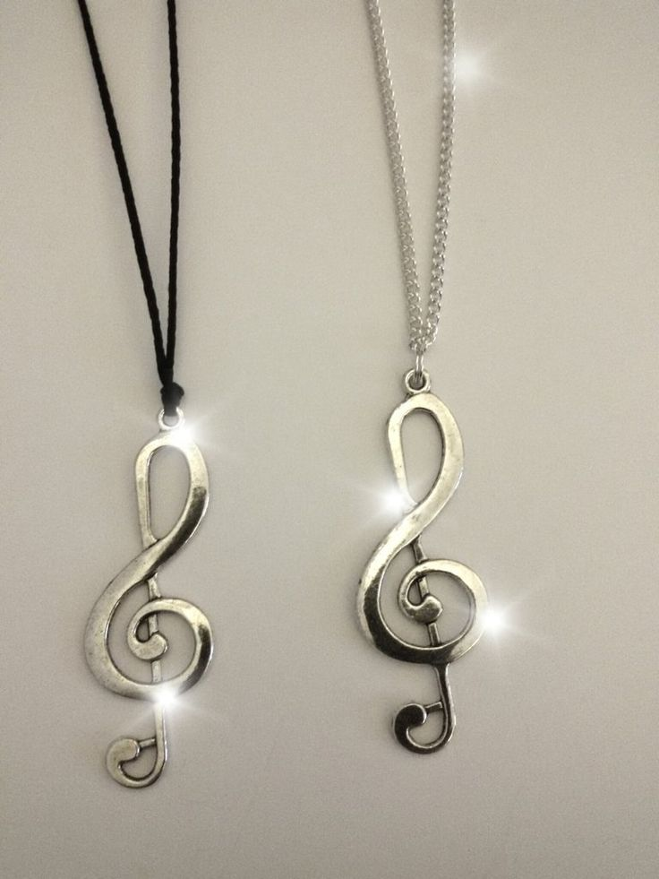 Collana con chiave di violino/chiave di sol, by Roba Da Donne Accessori, 5,00 € su misshobby.com