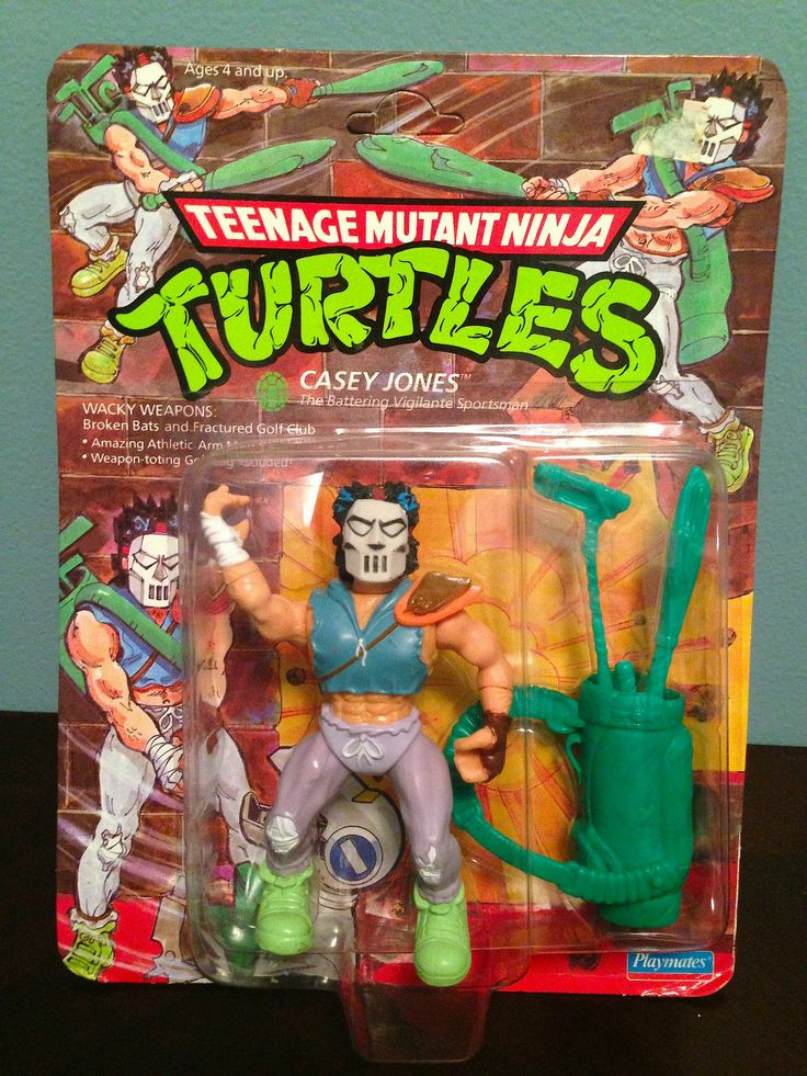 TMNT Teenage Mutant Ninja Turtles Casey Jones 1989 Playmates