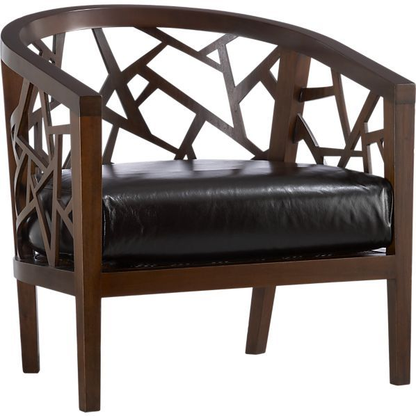 Ankara Chair with Leather Cushion I Crate and Barrel