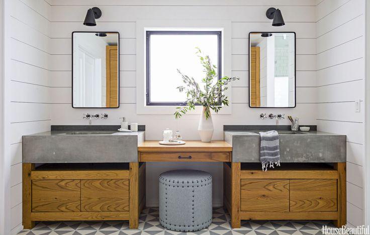 A Dark Master Bath Turns Cozy and Modern - Spa Bathroom Inspiration