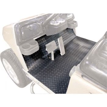 Add a rubber diamond plate floor mat to protect and to customize your golf cart.