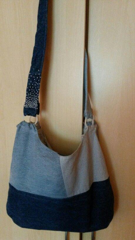 DIY DENIM kabelka s korálky