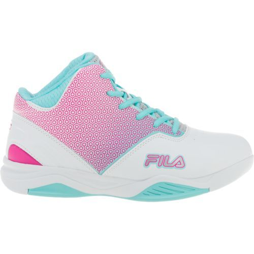 Fila™ Girls' Sixth Man Basketball Shoes (White/Turquoise Or Aqua, Size 11) - Youth Running Shoes at Academy Sports