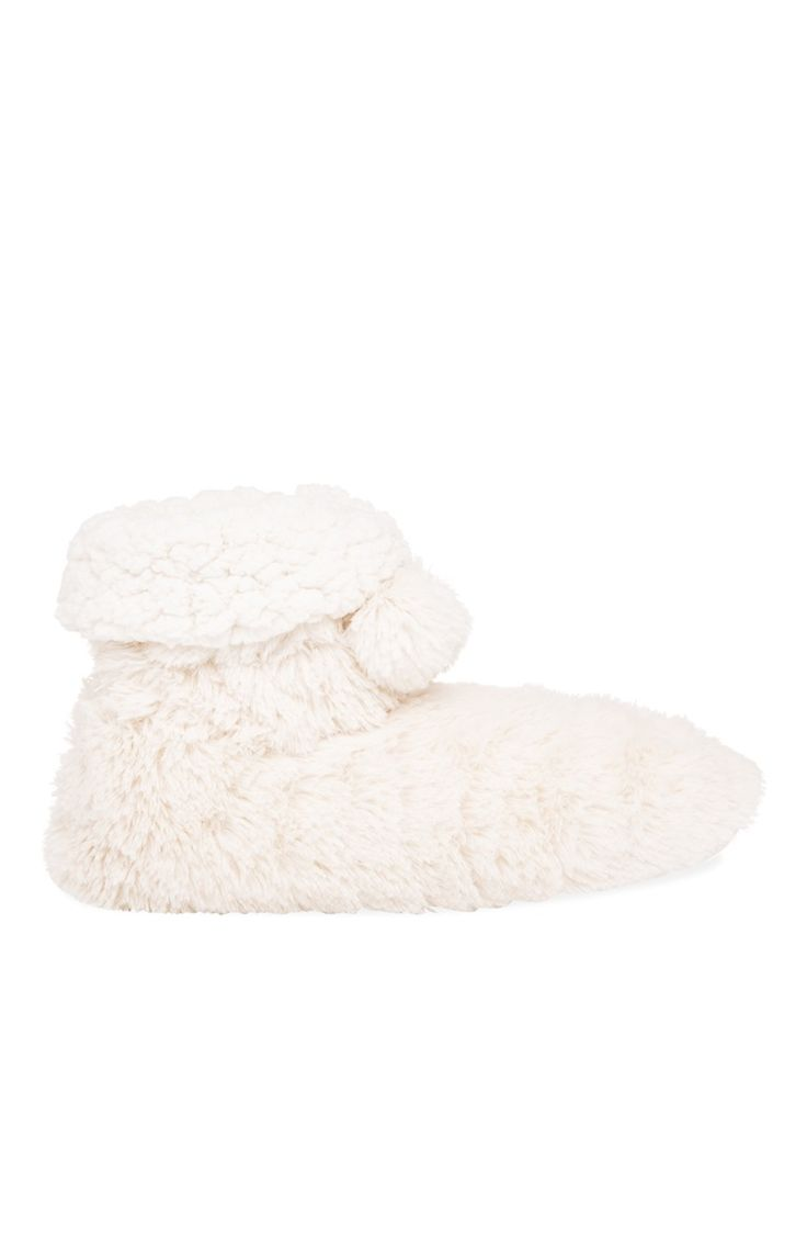 Primark - Chaussons montants sherpa crème