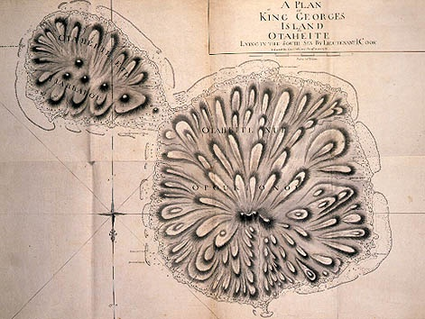 A plan of King Georges Island [Tahiti], 1769 /    James Cook.      Find more detailed information about this map:   http://library.sl.nsw.gov.au/record=b2071155 Search the collections of the State Library of New South Wales www.sl.nsw.gov.au