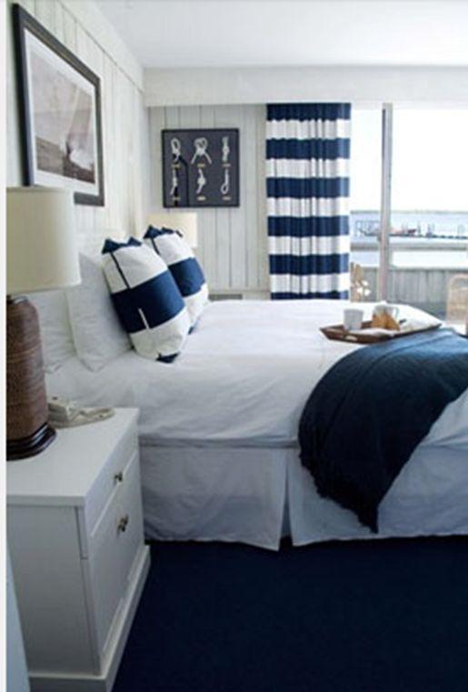 Die besten 25+ Marine Vorhänge Schlafzimmer Ideen auf Pinterest - schlafzimmer mit schrge