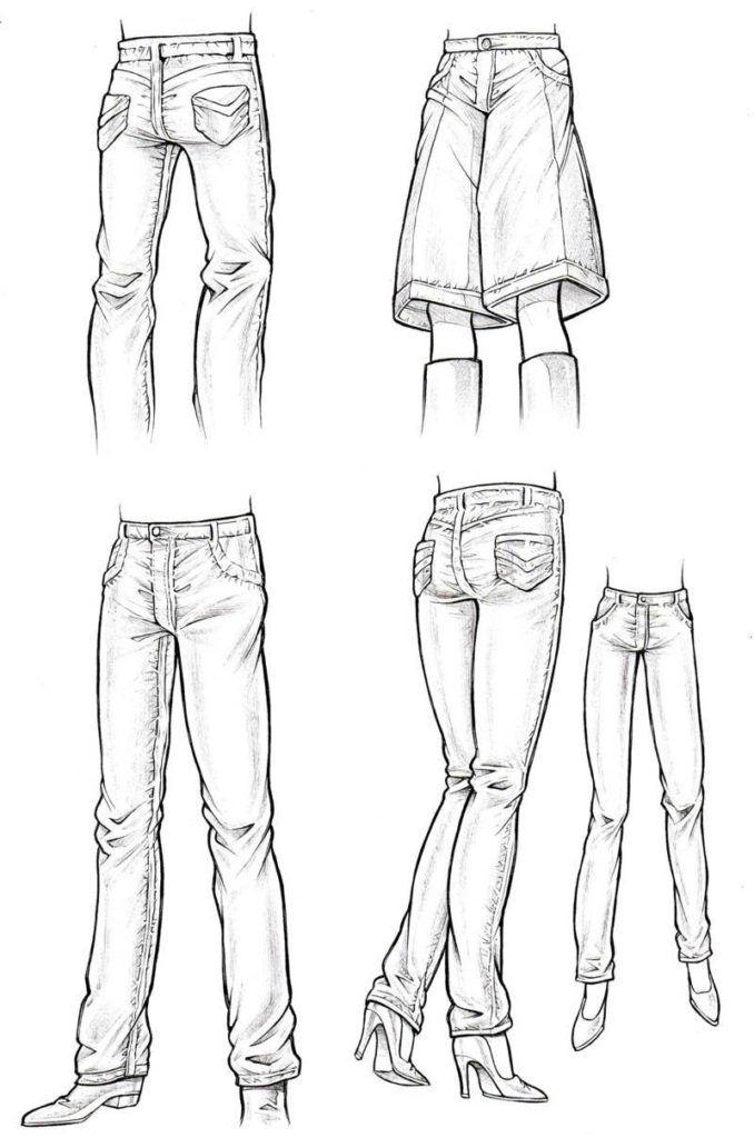 Aprender A Dibujar Pantalones Pantalones Dibujo Como Dibujar Ropa Disenos De Ropa Dibujos