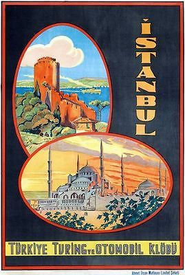 Vintage Istanbul Turkey Tourism Poster A3 Print