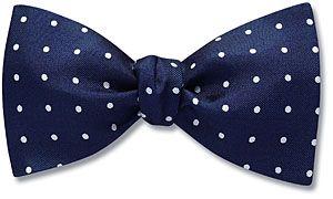 Blenheim Slim Line/Standard bow tie pictured