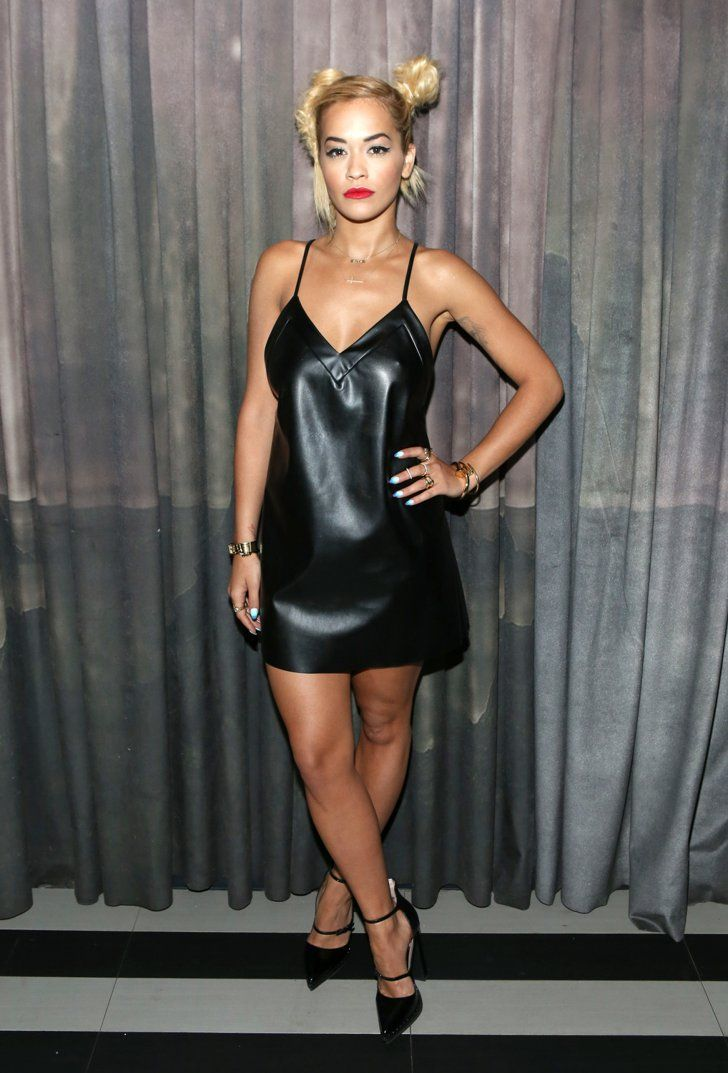 Pin for Later: What's All the Fuss About? Rita Ora's Always Dressed Sexy Rita Ora at Paper Magazine's Beautiful People Party Rita took the boudoir-inspired slip dress to the next level of sexy by opting for a leather DKNY version of the style.