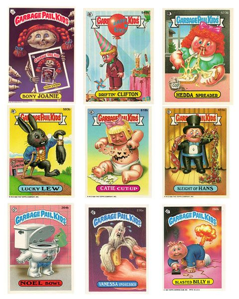 garbage pail kids 1980s   My Favorite Toys of the 1980's - One Rare Bird