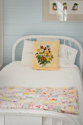 just pretty -- reminds me of the soft blue and yellow room I had just before I left home
