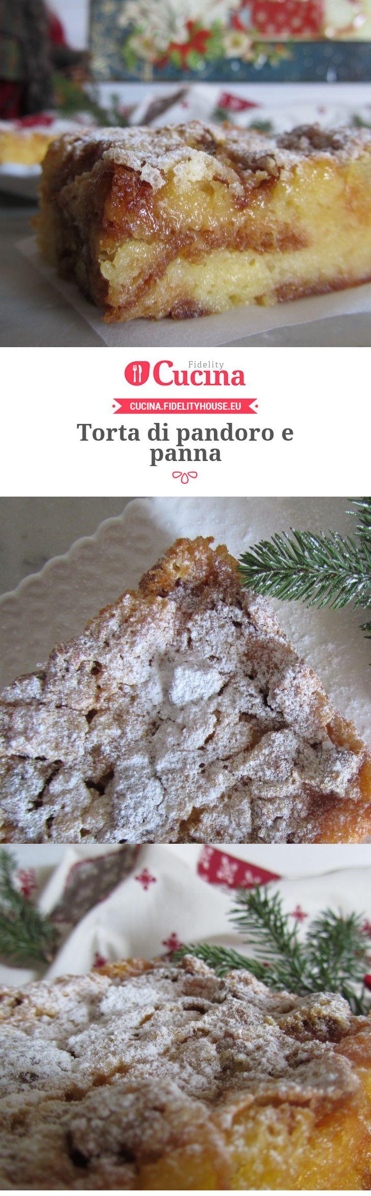 Torta di pandoro e panna della nostra utente Francesca. Unisciti alla nostra Community ed invia le tue ricette!