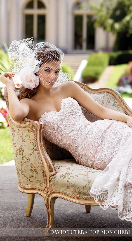 Blush Wedding Dress by David Tutera for Mon Cheri
