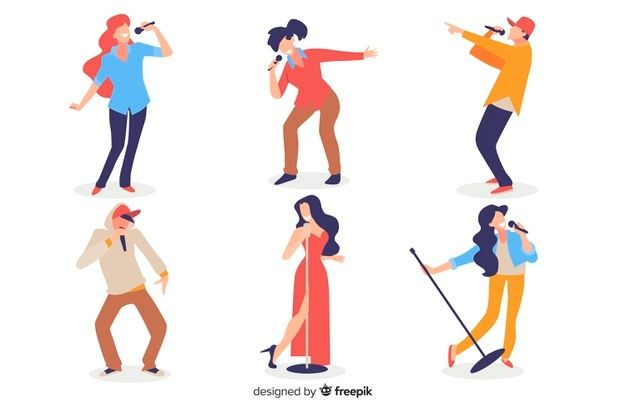 Download People Singing For Free In 2020 Vector Free Singing Vector