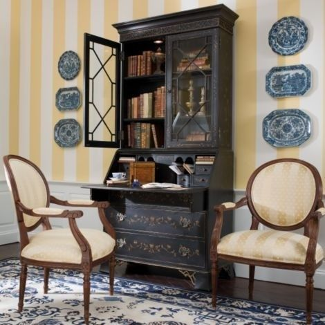 Black Secretary Desk With Hutch - Foter