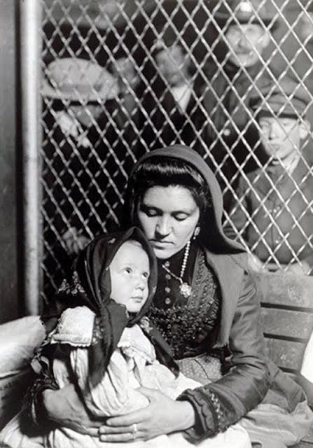 Immigration: Lewis Hine, Italian Immigrant, (Madonna) Ellis Island, 1908. #EllisIsland #history