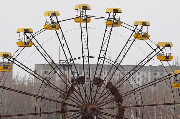 Inside Chernobyl, 25 Years Later- All Quiet A Ferris wheel in Pripyat. This picture was taken on March 31, 2011.