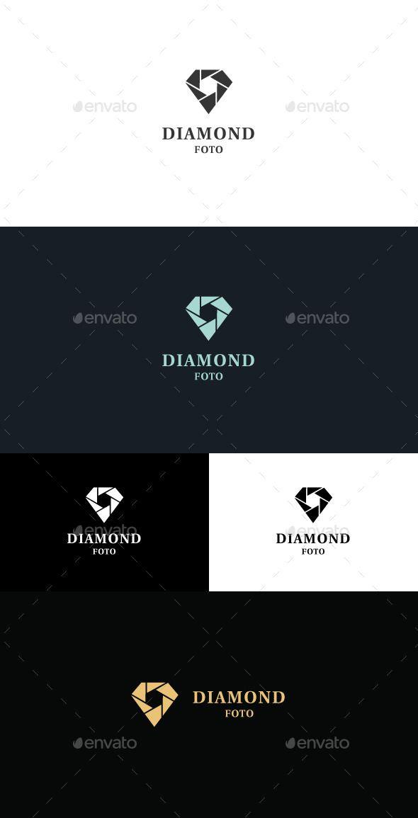 Diamond Foto  Logo Design Template Vector #logotype Download it here: http://graphicriver.net/item/diamond-foto-logo/11512816?s_rank=792?ref=nexion