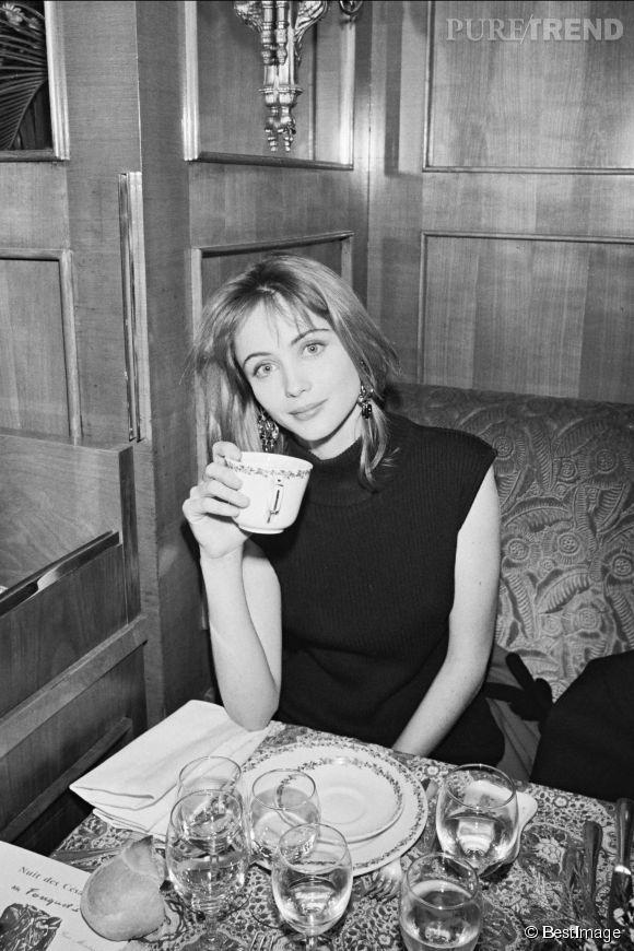 Emmanuelle Béart en 1986.