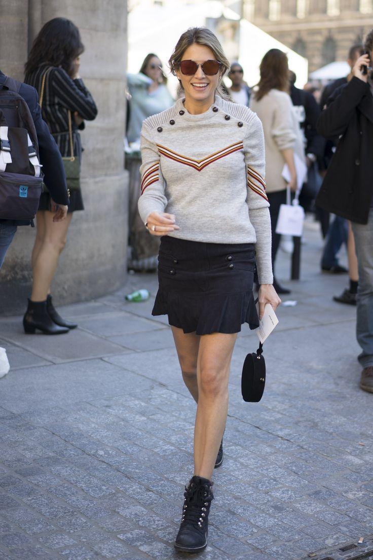 Helena Bordon chevron sweater black boots