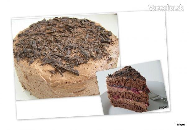 Chocoladetaart - Čokoládovo-kakaová torta